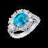 Paraíba Tourmaline and Diamond Ring