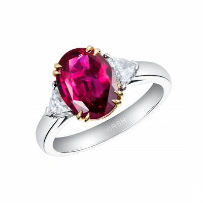 Trio Oval Ruby Ring