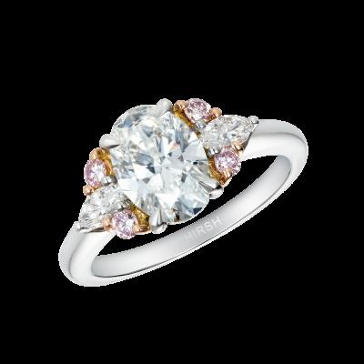 Papillon Diamond Ring with Pink Diamonds
