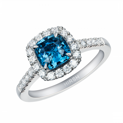 Regal Ring set with a cobalt-blue spinel