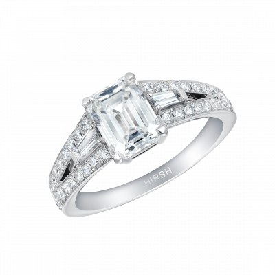 Majestic Emerald Cut Diamond Ring