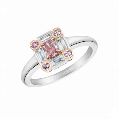Ice Ring set with Pink Diamonds