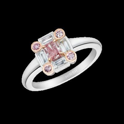 Ice Ring set with Pink Diamonds