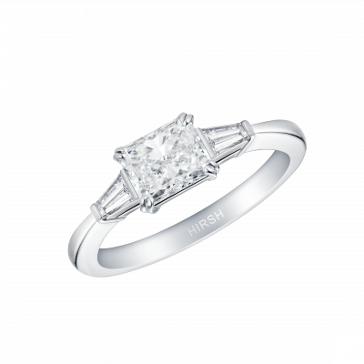 Trio Radiant Cut Diamond Ring