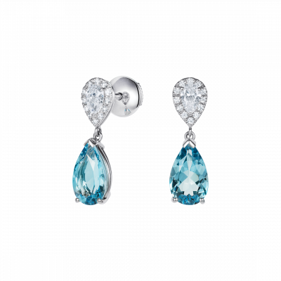 Burlington Aquamarine and Diamond Earrings