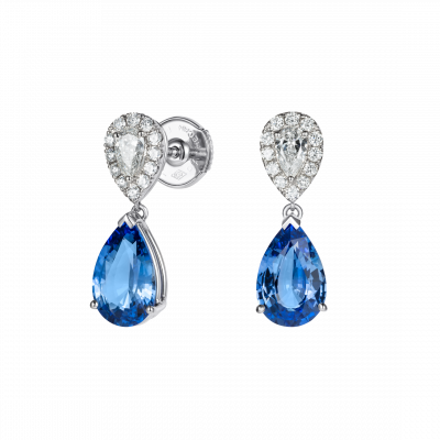 Burlington Sapphire and Diamond Earrings