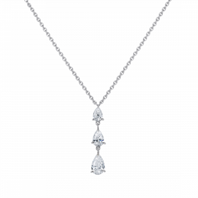 Trilogy Pear Shape Diamond Pendant