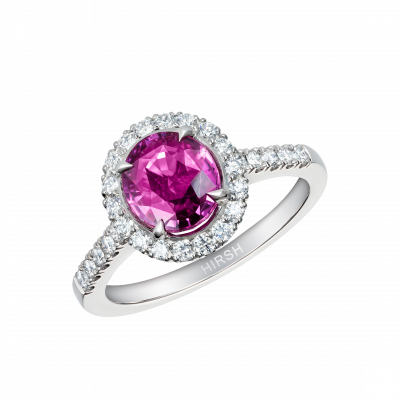 Round Pink Sapphire Regal Ring