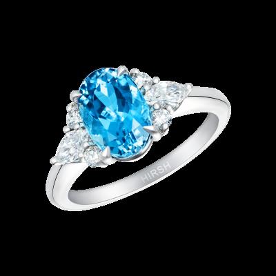 Papillon Aquamarine and Diamond Ring
