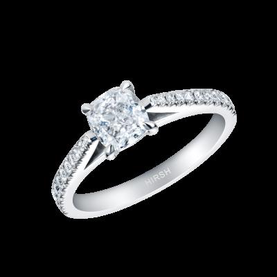 Reflection Cushion Shape Diamond Ring