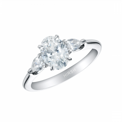 Trio Oval Diamond Ring