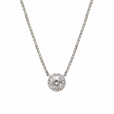 Regal Round Diamond Pendant 0.50 carat