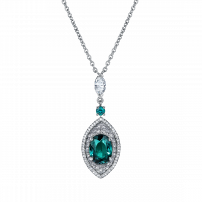Cleopatra Alexandrite and Diamond Pendant