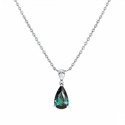 Wallace Alexandrite and Diamond Pendant