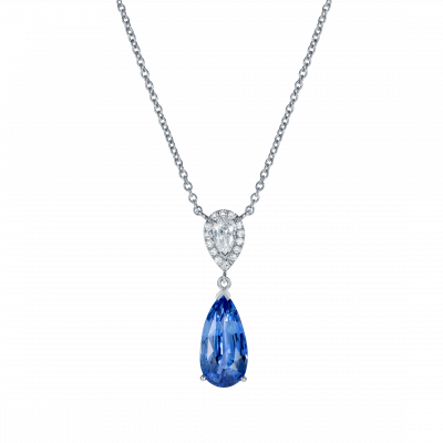 Burlington Sapphire and Diamond Pendant