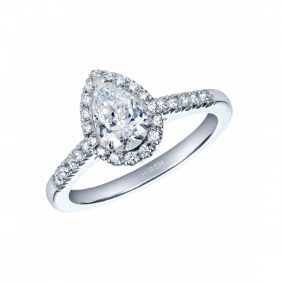 Regal Pear Shape Diamond Ring