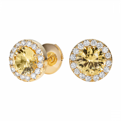 Regal Yellow Sapphire Earrings