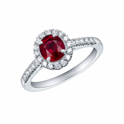 Regal Ruby and Diamond Ring