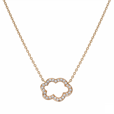 Cloud 9 Rose Gold and Diamond Pendant