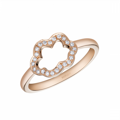 Cloud 9 Rose Gold and Diamond Ring