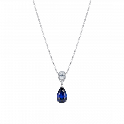 Burlington Royal Blue Sapphire and Diamond Pendant