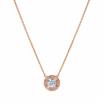 Regal Pink and White Diamond Pendant