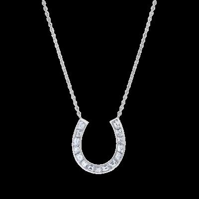 Horseshoe Diamond Pendant
