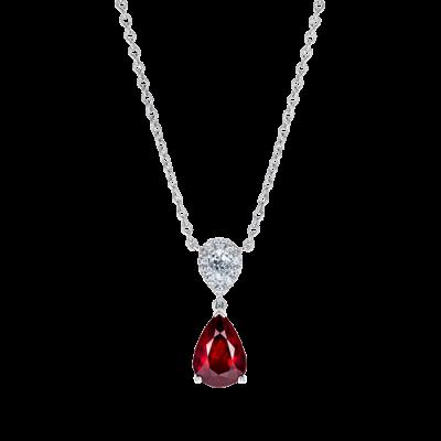Ruby and Diamond Burlington Pendant