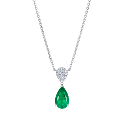 Burlington Emerald and Diamond Pendant