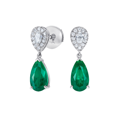Burlington Emerald and Diamond Earrings