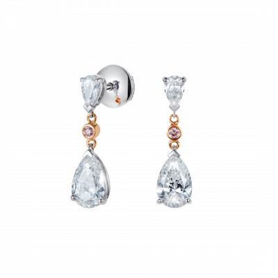 Grafton Diamond and Pink Diamond Earrings