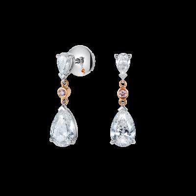 Grafton Diamond and Pink Diamond Earrings