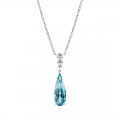 Regent Aquamarine and Diamond Pendant