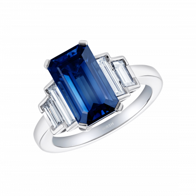 Artemis Sapphire and Diamond Ring