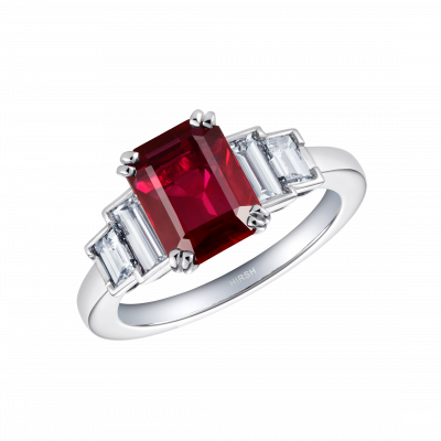 Artemis Ruby and Diamond Ring