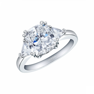 Diamond Cushion Cut Trio Ring