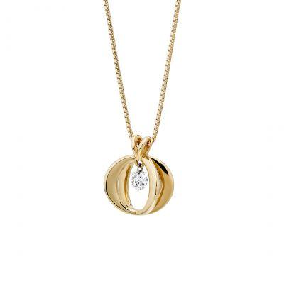 Cinderella Pendant in 18K Rose Gold