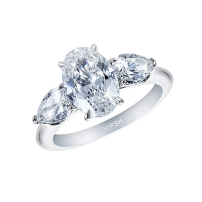 2 Carat Oval Diamond Trio Ring
