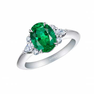 Papillon Emerald and Diamond Ring