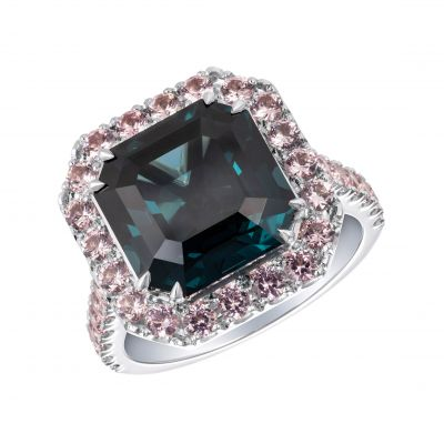 Regal Blue and Pink Spinel Ring