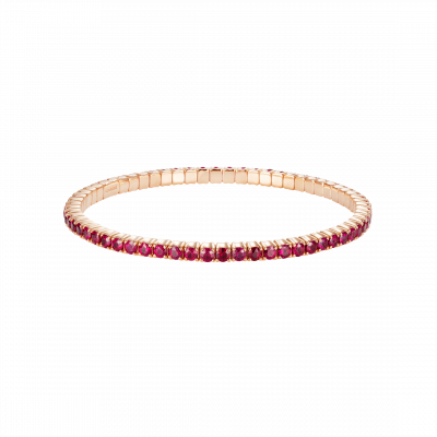 Large Advantage Ruby Bracelet in Rose Gold
