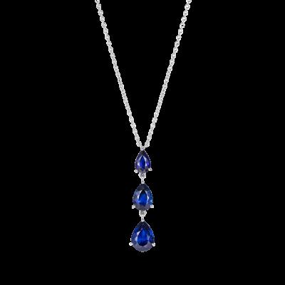 Trilogy Pear Shape Sapphire Pendant
