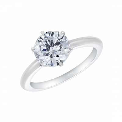 Solitaire Ring with Argyle Pink Diamonds set below in the collet