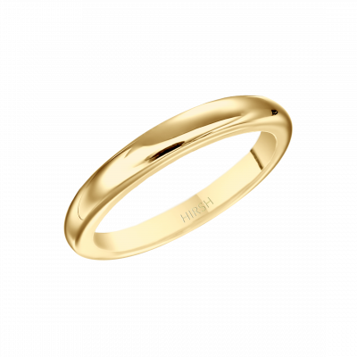 Yellow Gold Wedding Band 2.5 mm