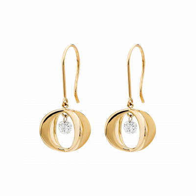 Cinderella Earrings in 18K Rose Gold