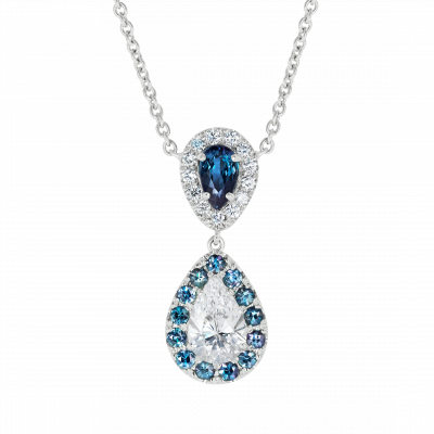 Tsarina Alexandrite and Diamond Pendant