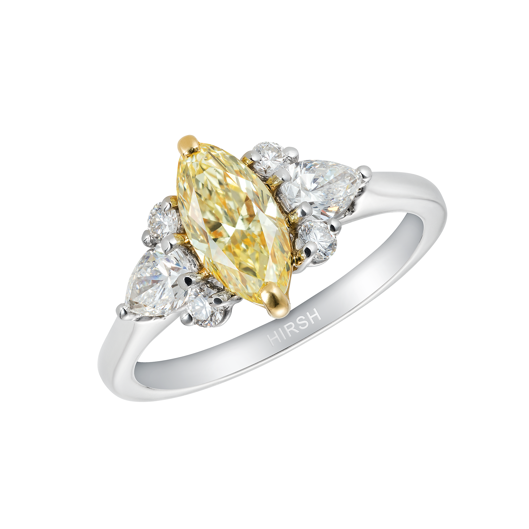 Yellow Diamond Engagement Rings Marquise Diamonds Hirsh Papillon