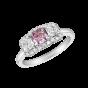 Infinity - Purple Pink and White Diamond Ring