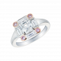 Ice Diamond and Pink Diamond Ring