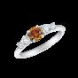 Cinq Orange Diamond and Diamond Ring